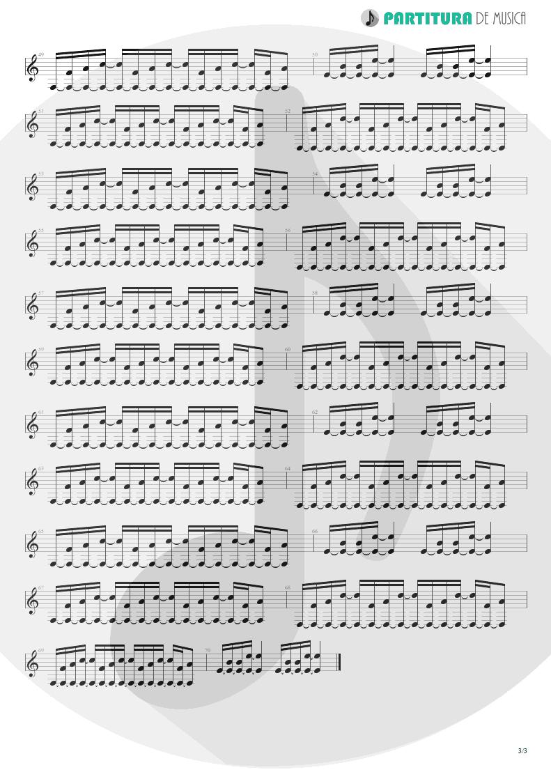 Partitura de musica de Violão - When You Came Into My Life | Scorpions | Pure Instinct 1996 - pag 3