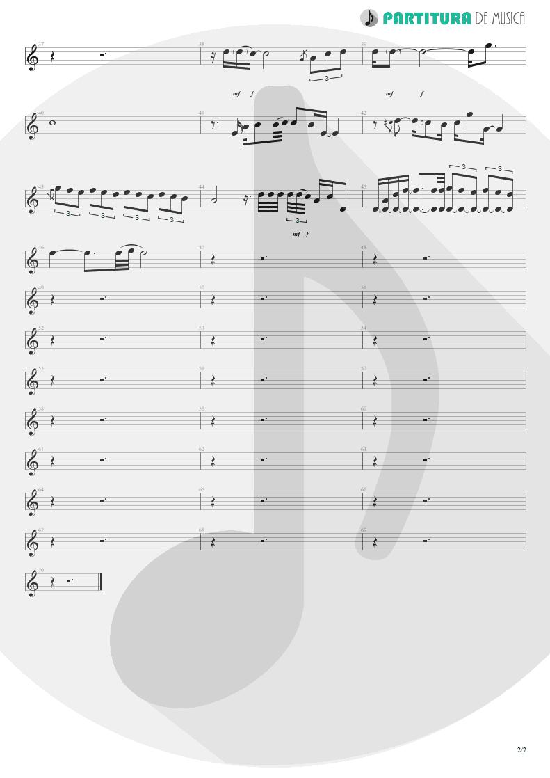 Partitura de musica de Violão - When You Came Into My Life   Scorpions   Pure Instinct 1996 - pag 2