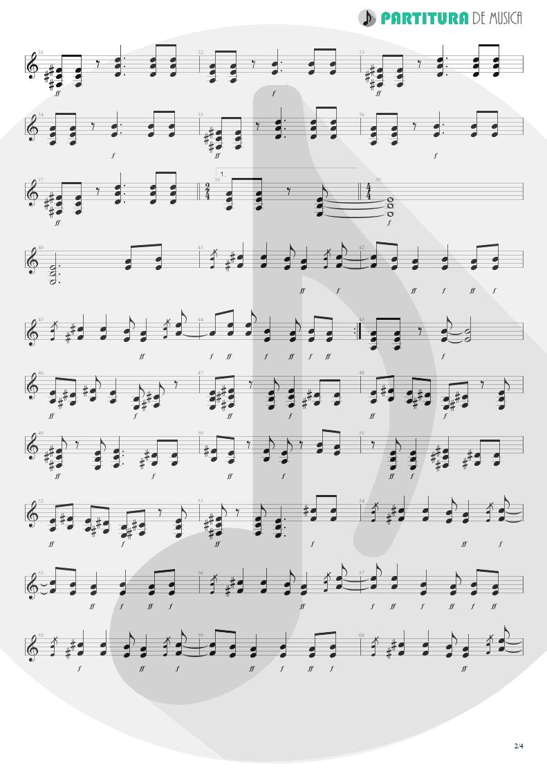 Partitura de musica de Guitarra Elétrica - Wild Child | Scorpions | Pure Instinct 1996 - pag 2