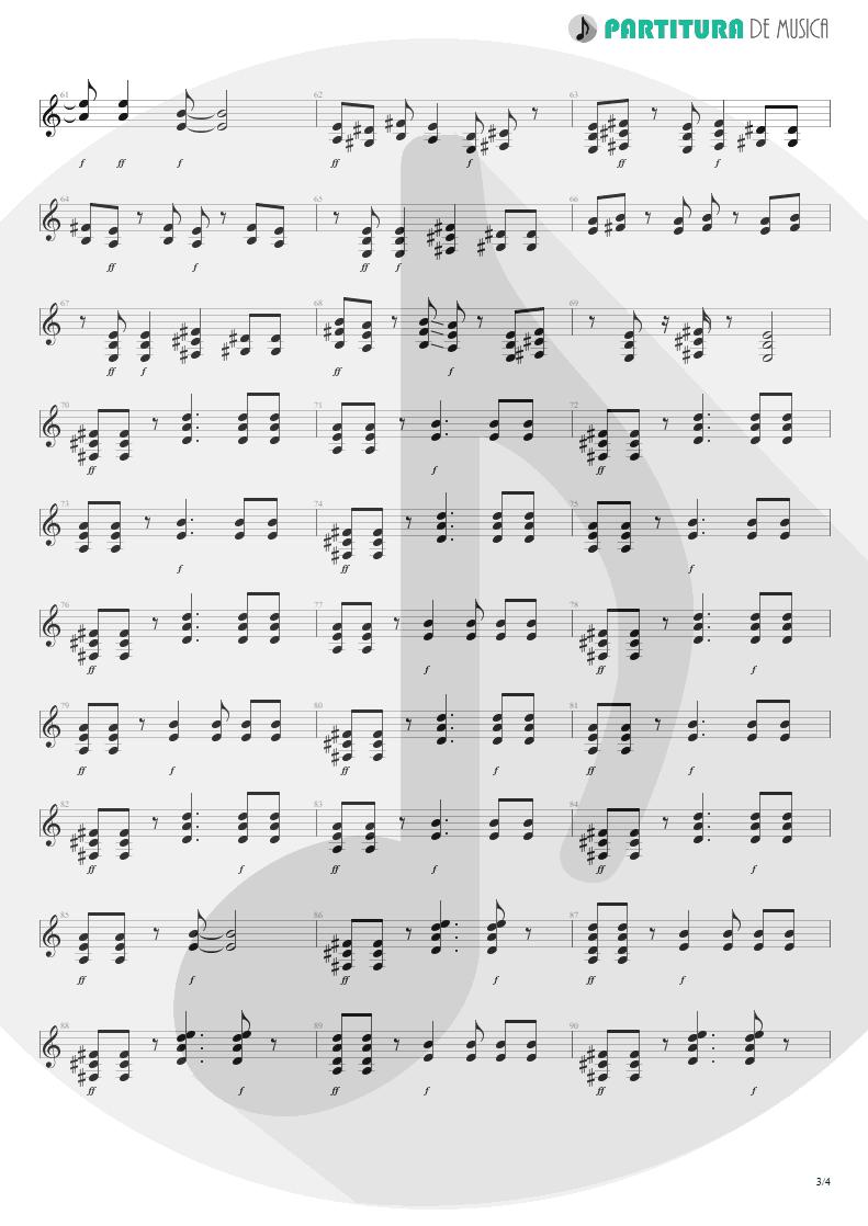 Partitura de musica de Guitarra Elétrica - Wild Child | Scorpions | Pure Instinct 1996 - pag 3