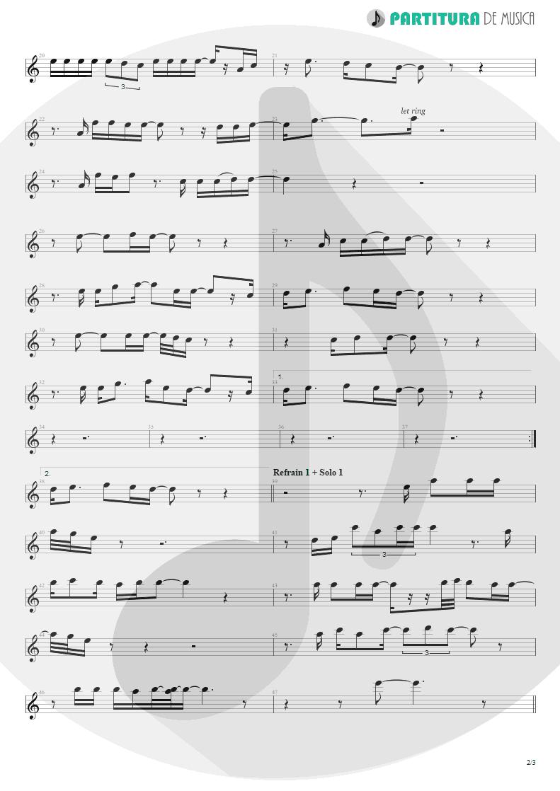 Partitura de musica de Harmônica - You And I | Scorpions | Pure Instinct 1996 - pag 2
