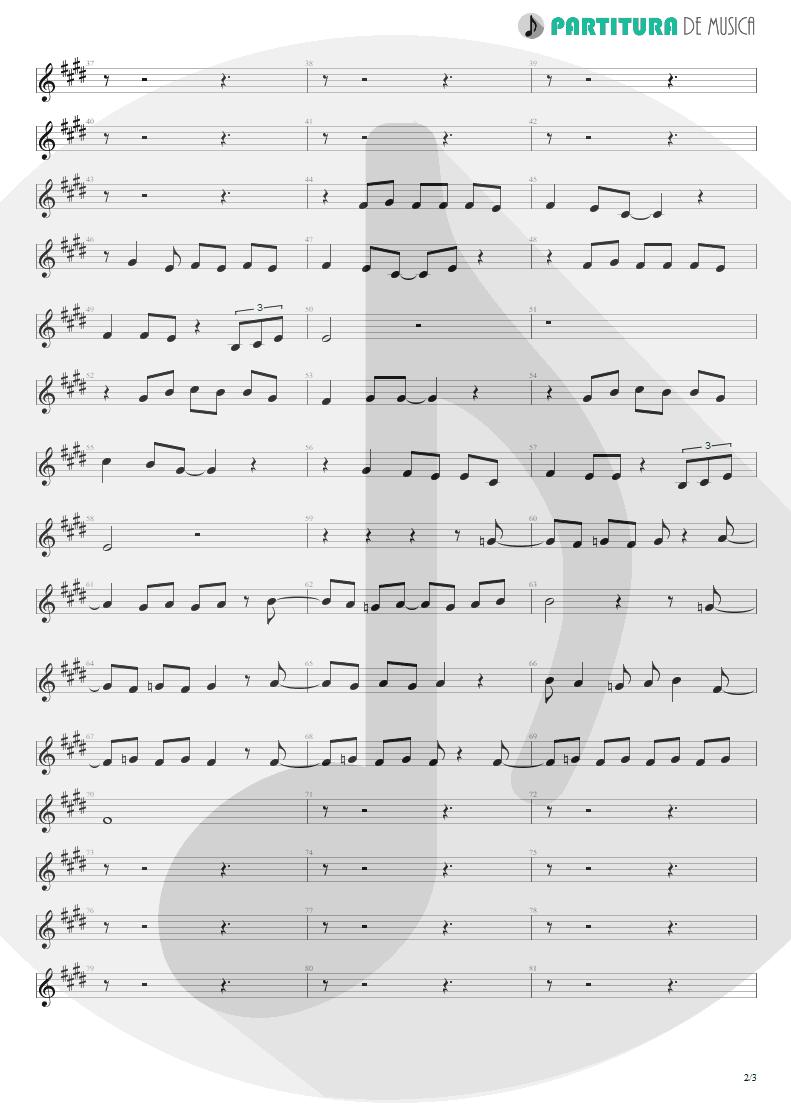 Partitura de musica de Canto - Arizona | Scorpions | Blackout 1997 - pag 2