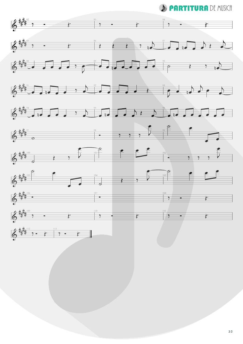 Partitura de musica de Canto - Arizona | Scorpions | Blackout 1997 - pag 3