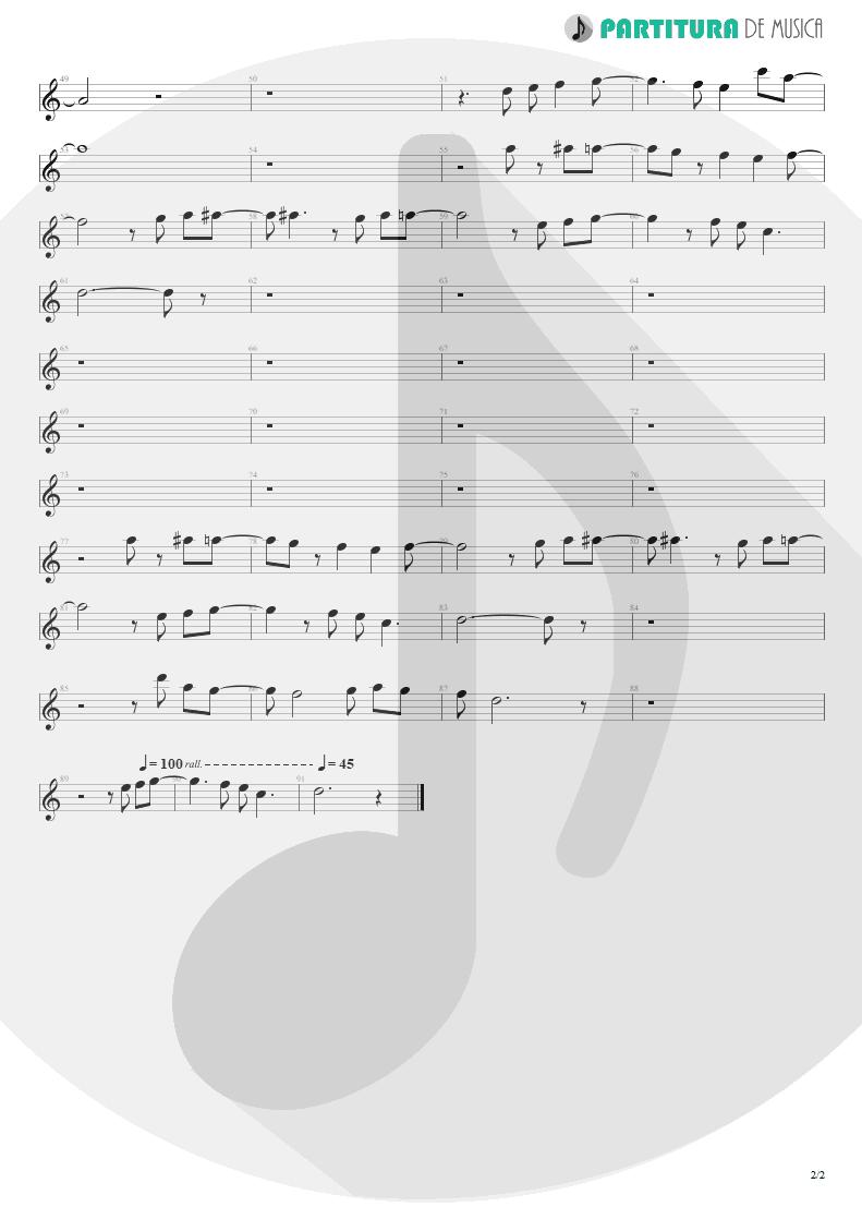 Partitura de musica de Canto - When The Smoke Is Going Down | Scorpions | Blackout 1997 - pag 2
