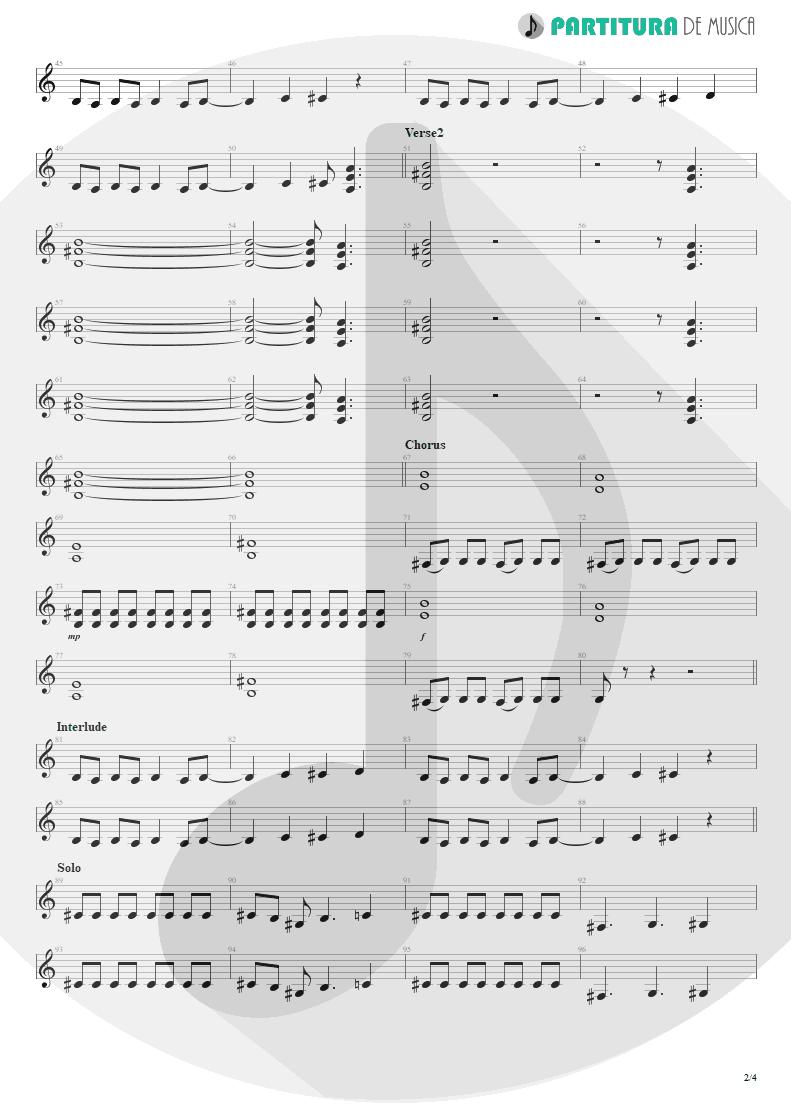 Partitura de musica de Guitarra Elétrica - Another Piece Of Meat | Scorpions | Lovedrive 1997 - pag 2