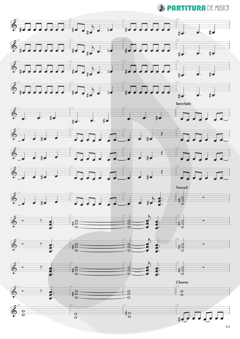 Partitura de musica de Guitarra Elétrica - Another Piece Of Meat | Scorpions | Lovedrive 1997 - pag 3