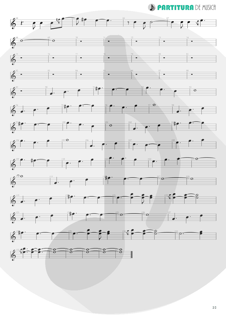 Partitura de musica de Canto - Moment Of Glory | Scorpions | Moment of Glory 2000 - pag 2