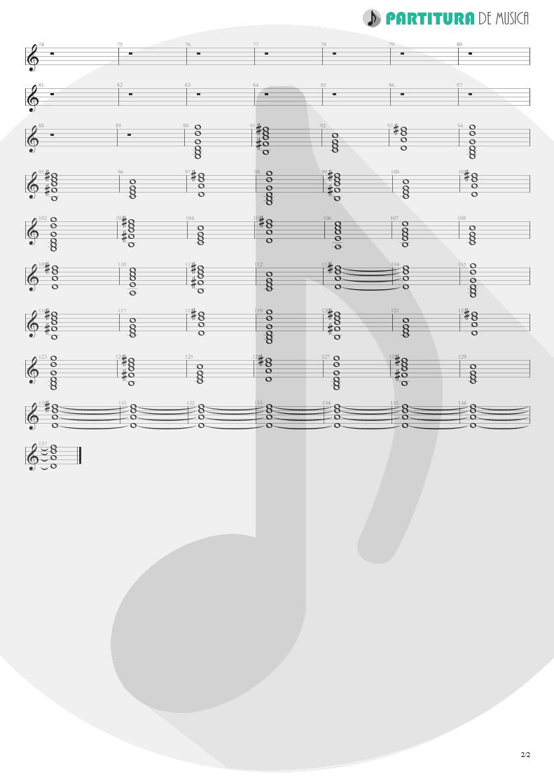 Partitura de musica de Teclado - Moment Of Glory | Scorpions | Moment of Glory 2000 - pag 2