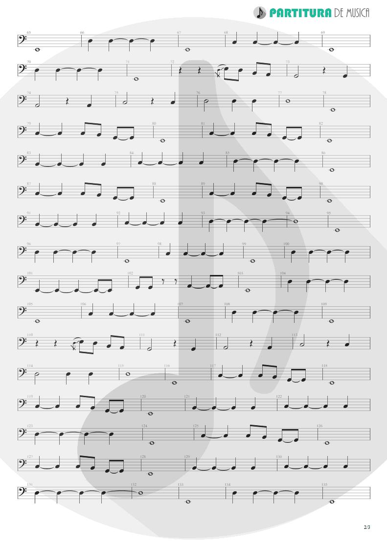 Partitura de musica de Baixo Elétrico - Living For Tomorrow   Scorpions   Live Bites 2002 - pag 2