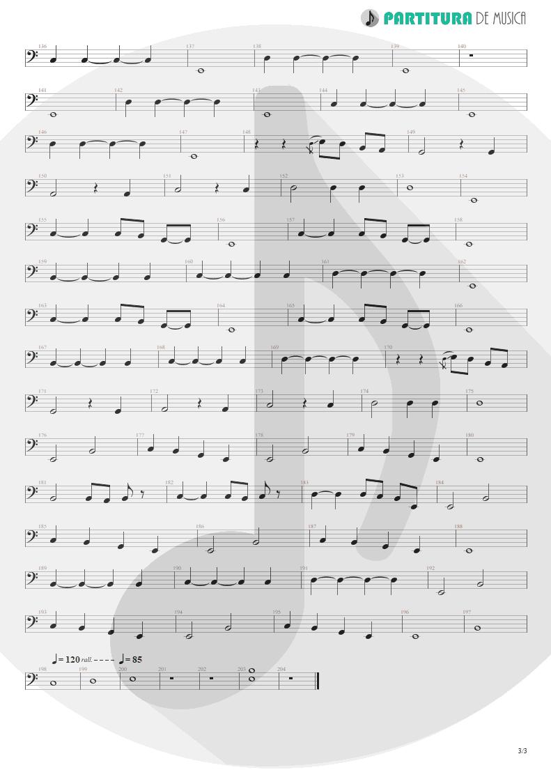 Partitura de musica de Baixo Elétrico - Living For Tomorrow   Scorpions   Live Bites 2002 - pag 3