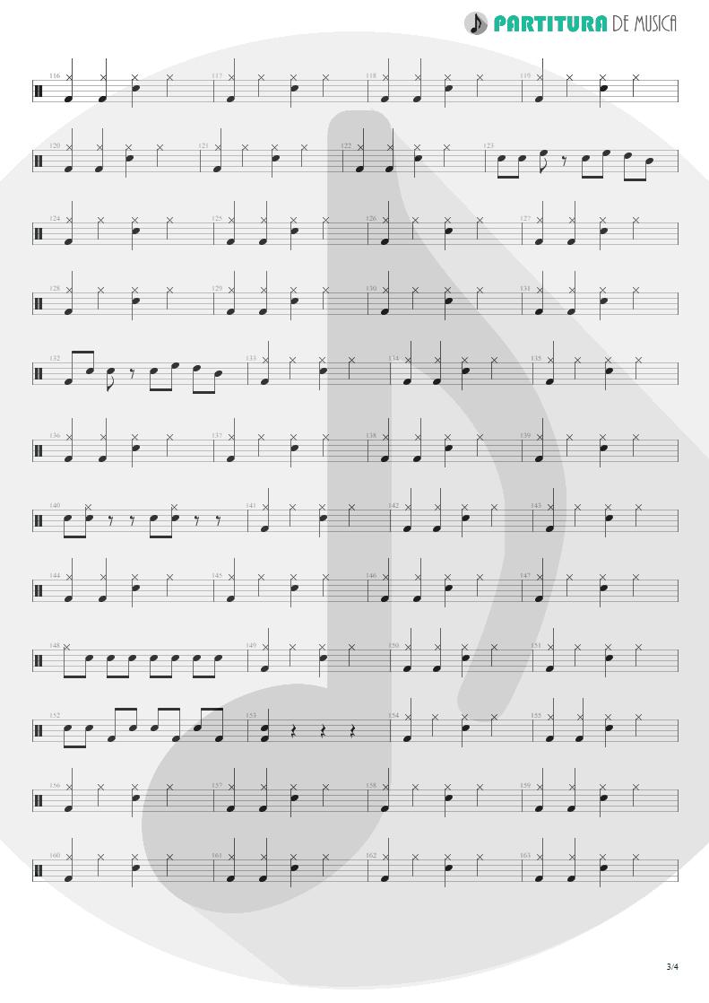 Partitura de musica de Bateria - Living For Tomorrow | Scorpions | Live Bites 2002 - pag 3