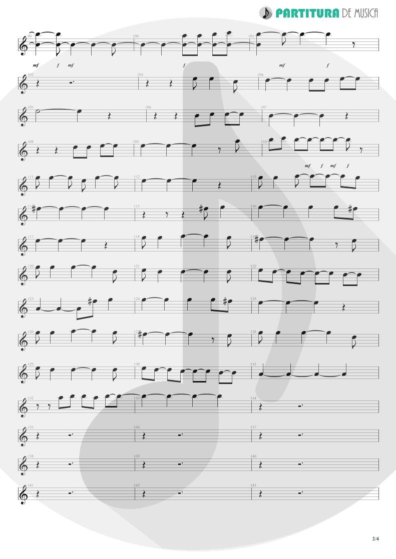 Partitura de musica de Canto - Living For Tomorrow   Scorpions   Live Bites 2002 - pag 3