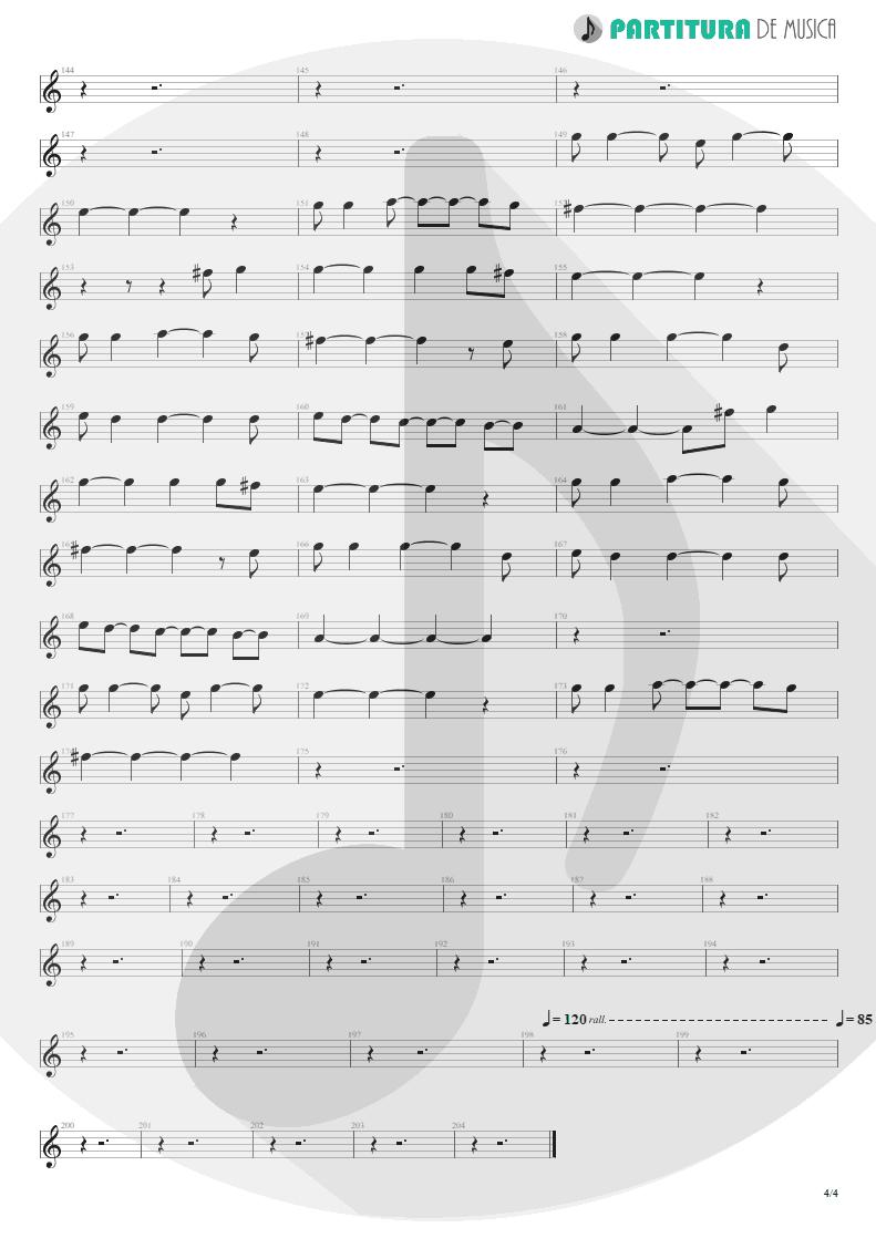 Partitura de musica de Canto - Living For Tomorrow   Scorpions   Live Bites 2002 - pag 4