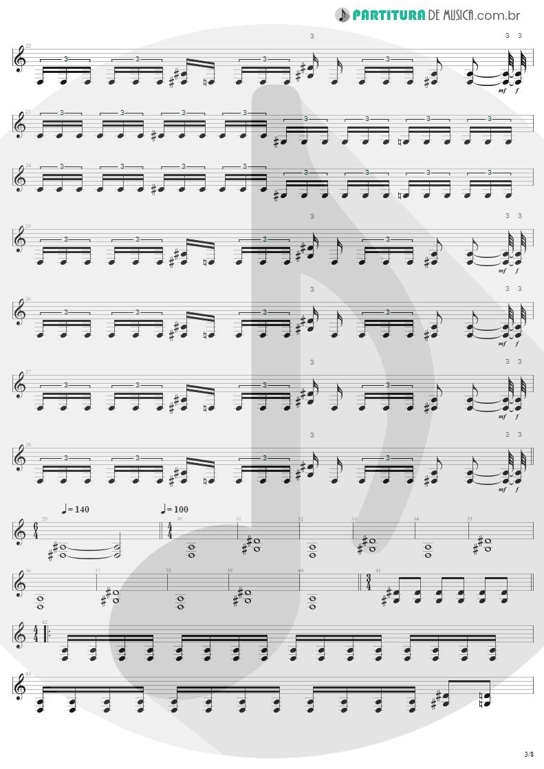 Partitura de musica de Guitarra Elétrica - Bestial Devastation | Sepultura | Bestial Devastation 1985 - pag 3