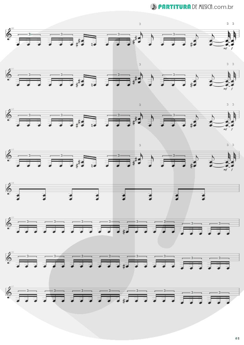Partitura de musica de Guitarra Elétrica - Bestial Devastation | Sepultura | Bestial Devastation 1985 - pag 6
