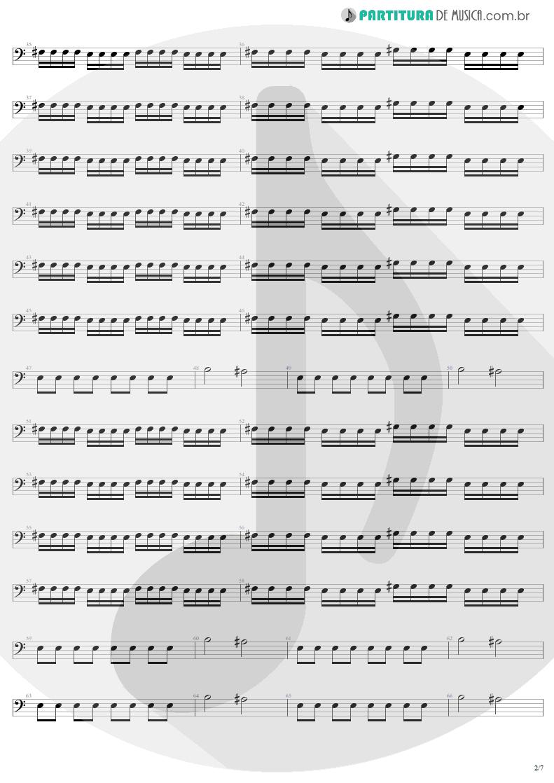 Partitura de musica de Baixo Elétrico - Mass Hypnosis | Sepultura | Beneath the Remains 1989 - pag 2