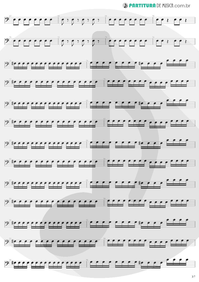 Partitura de musica de Baixo Elétrico - Mass Hypnosis | Sepultura | Beneath the Remains 1989 - pag 3