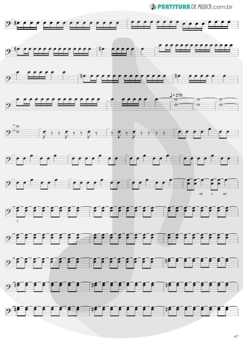 Partitura de musica de Baixo Elétrico - Mass Hypnosis | Sepultura | Beneath the Remains 1989 - pag 4
