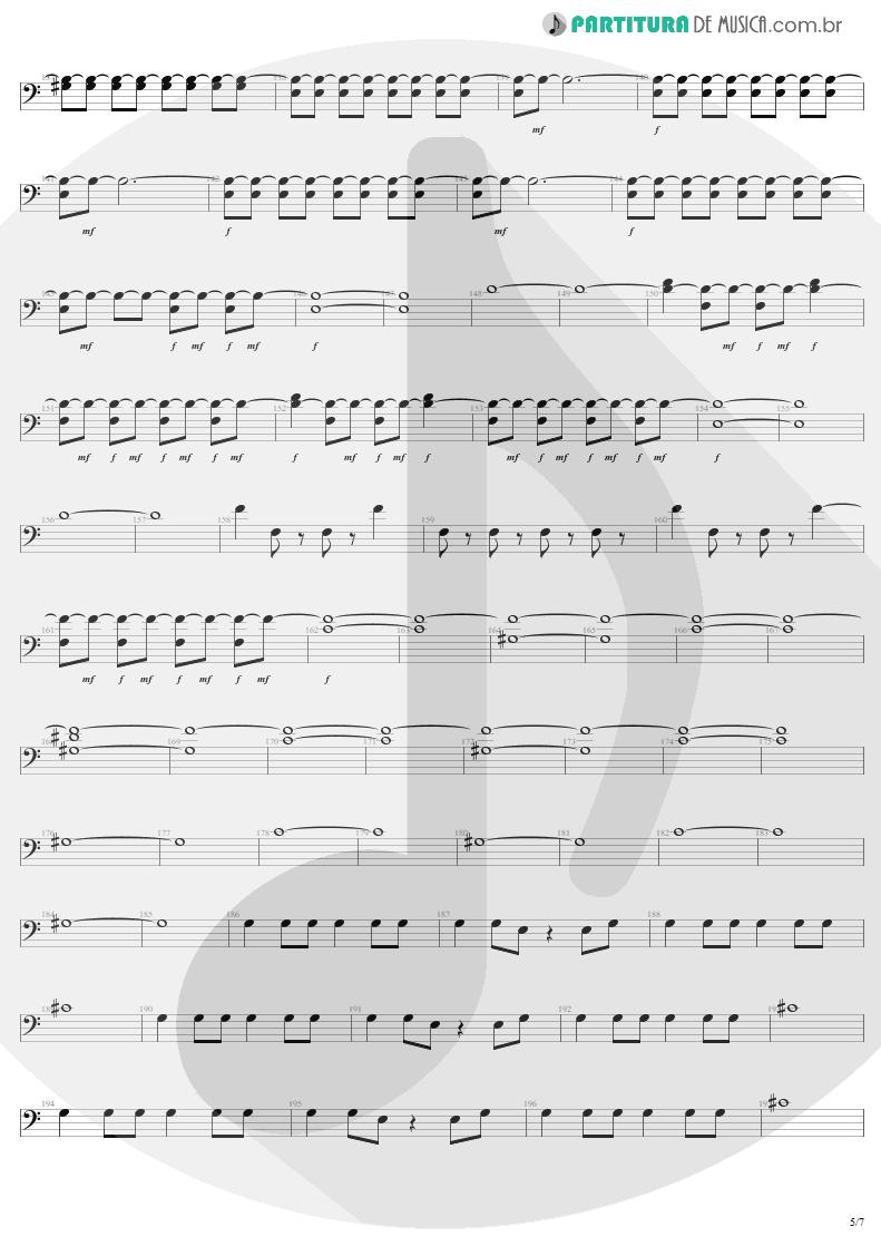 Partitura de musica de Baixo Elétrico - Mass Hypnosis | Sepultura | Beneath the Remains 1989 - pag 5