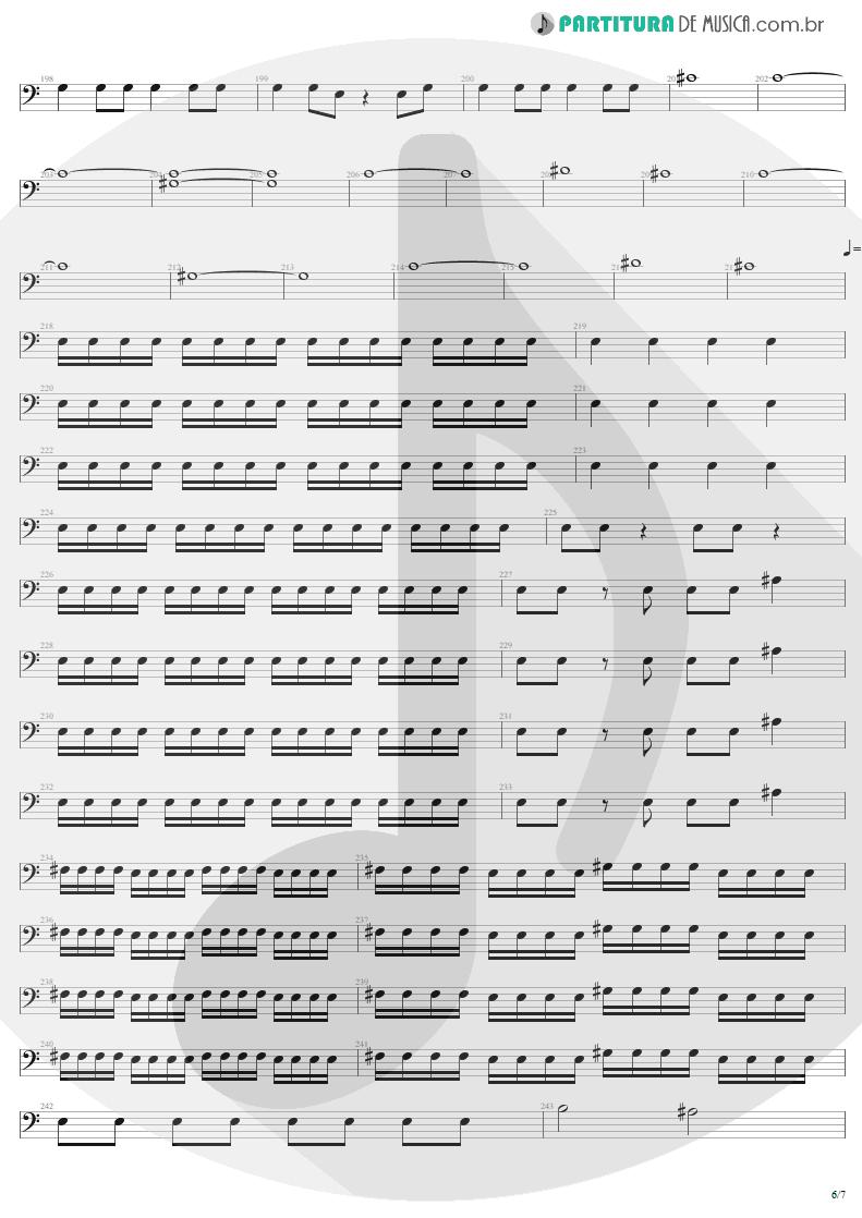 Partitura de musica de Baixo Elétrico - Mass Hypnosis | Sepultura | Beneath the Remains 1989 - pag 6