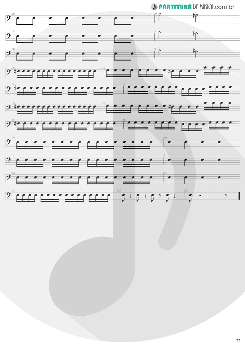 Partitura de musica de Baixo Elétrico - Mass Hypnosis | Sepultura | Beneath the Remains 1989 - pag 7
