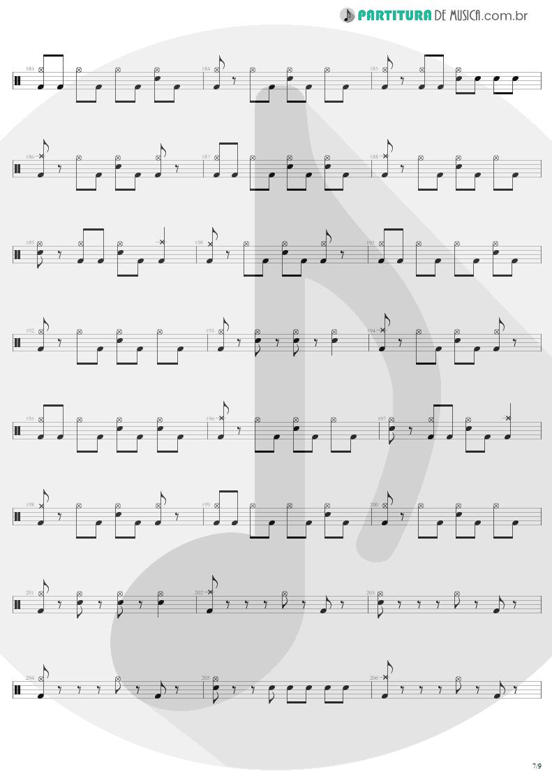 Partitura de musica de Bateria - Mass Hypnosis | Sepultura | Beneath the Remains 1989 - pag 7