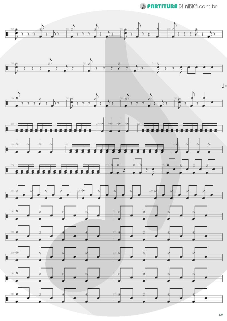Partitura de musica de Bateria - Mass Hypnosis | Sepultura | Beneath the Remains 1989 - pag 8
