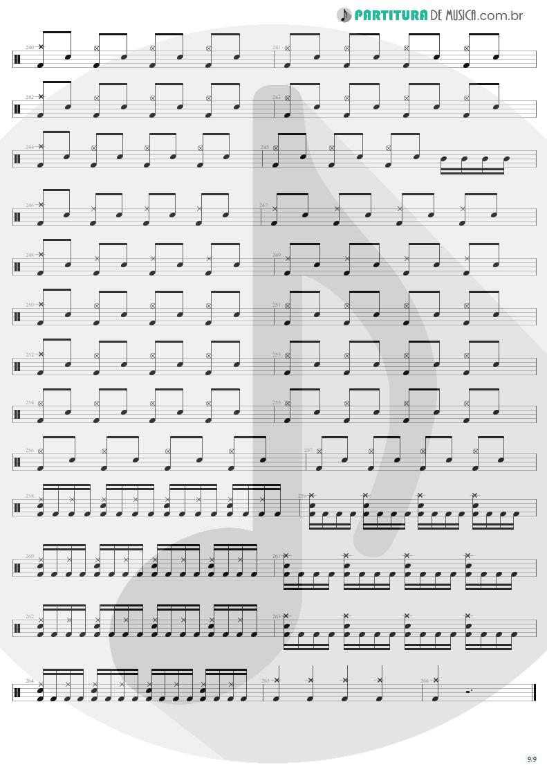 Partitura de musica de Bateria - Mass Hypnosis | Sepultura | Beneath the Remains 1989 - pag 9