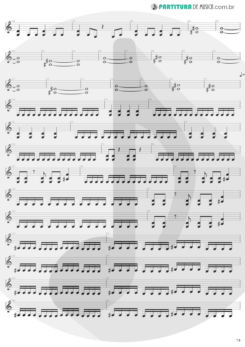 Partitura de musica de Guitarra Elétrica - Mass Hypnosis | Sepultura | Beneath the Remains 1989 - pag 7