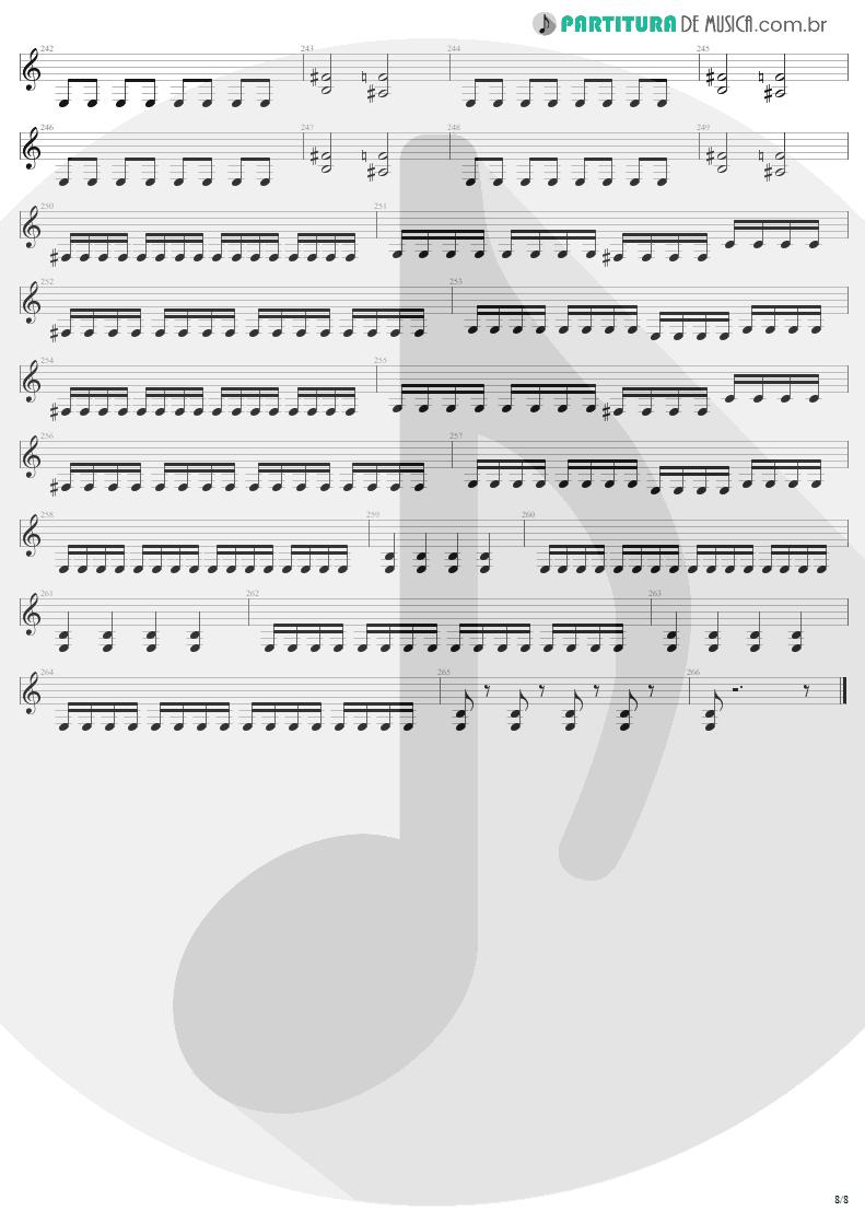Partitura de musica de Guitarra Elétrica - Mass Hypnosis | Sepultura | Beneath the Remains 1989 - pag 8