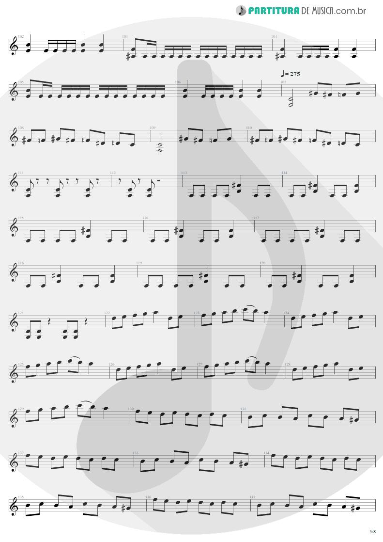 Partitura de musica de Guitarra Elétrica - Mass Hypnosis | Sepultura | Beneath the Remains 1989 - pag 5
