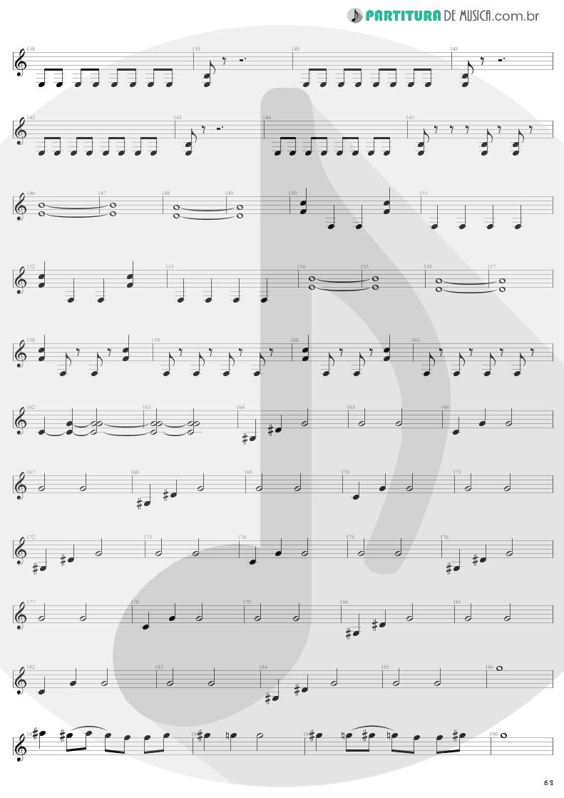Partitura de musica de Guitarra Elétrica - Mass Hypnosis | Sepultura | Beneath the Remains 1989 - pag 6