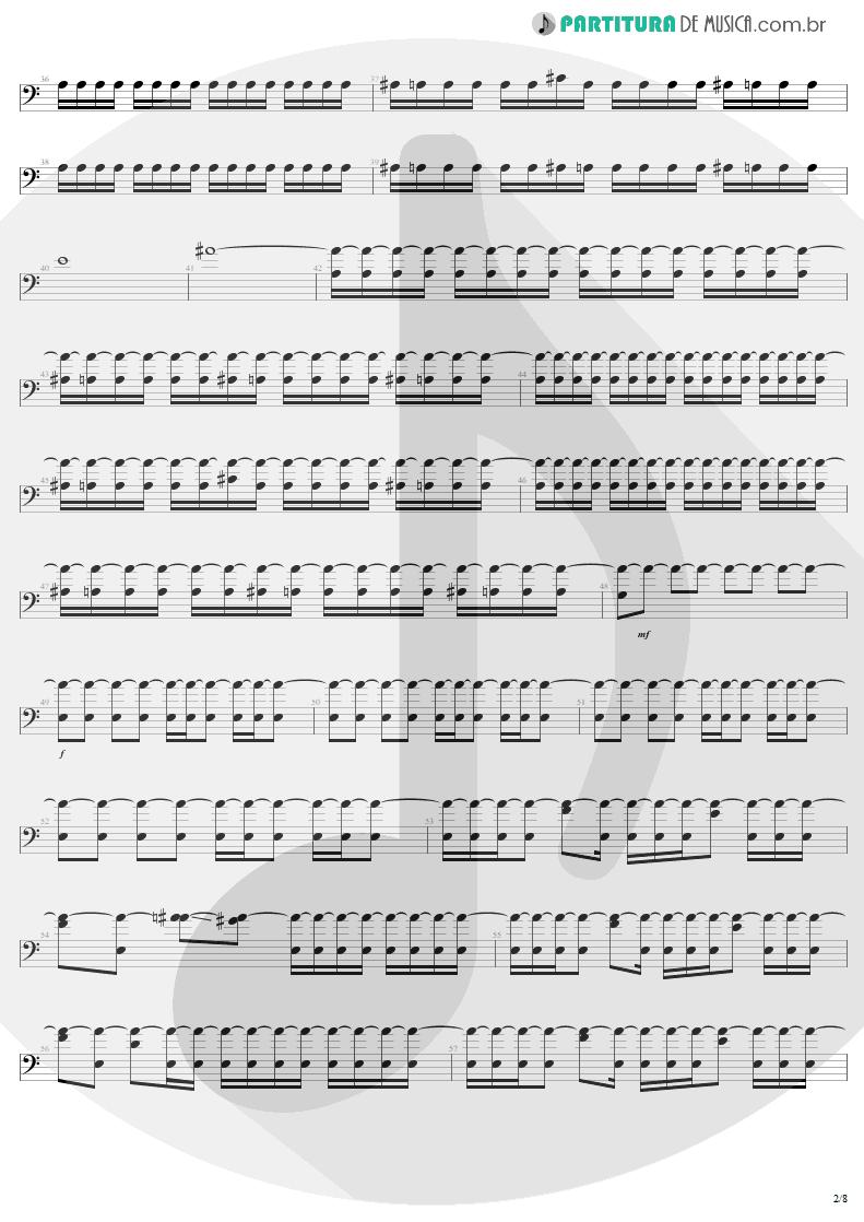 Partitura de musica de Baixo Elétrico - Slaves Of Pain | Sepultura | Beneath the Remains 1989 - pag 2