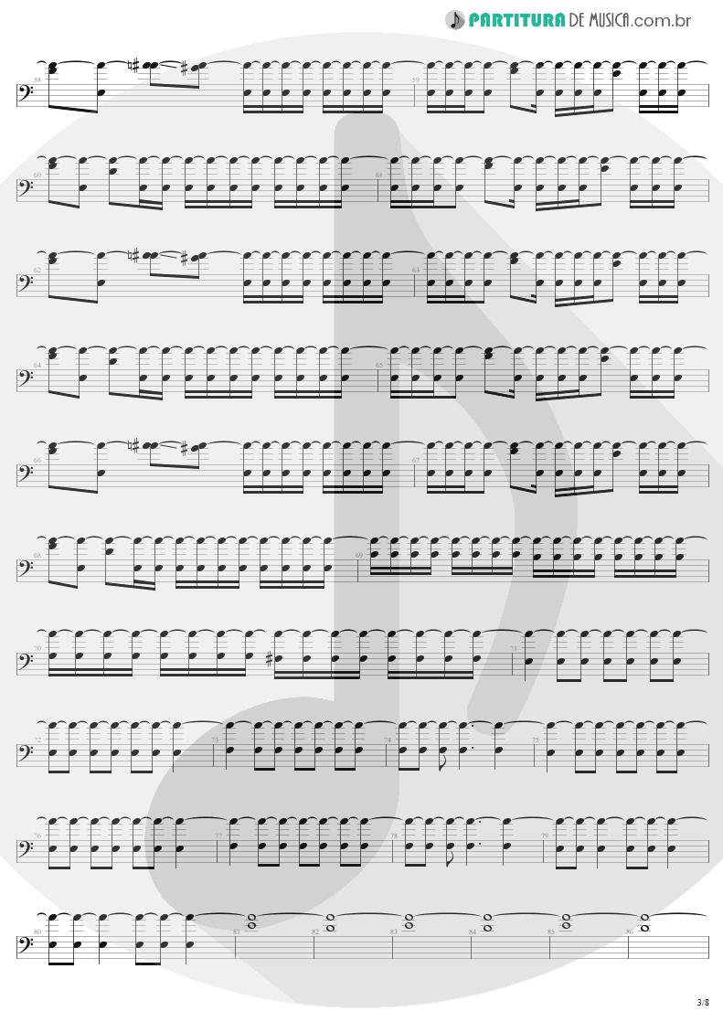 Partitura de musica de Baixo Elétrico - Slaves Of Pain | Sepultura | Beneath the Remains 1989 - pag 3