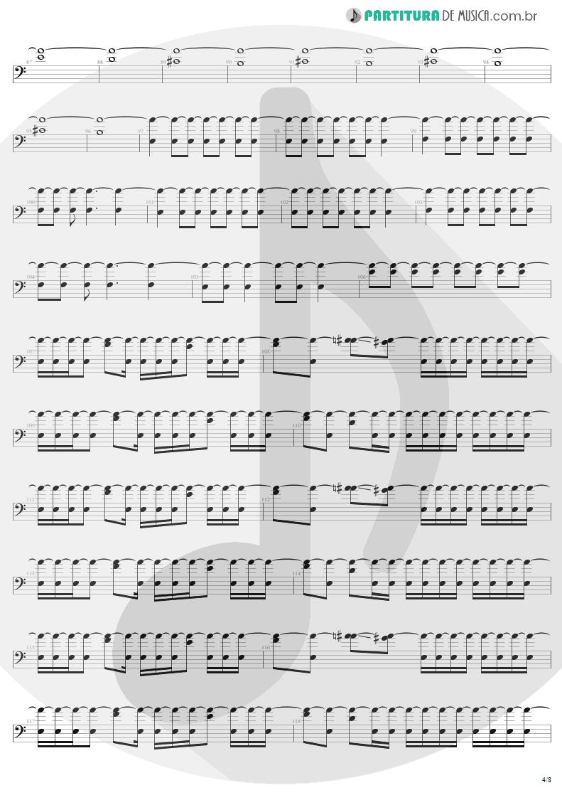 Partitura de musica de Baixo Elétrico - Slaves Of Pain | Sepultura | Beneath the Remains 1989 - pag 4