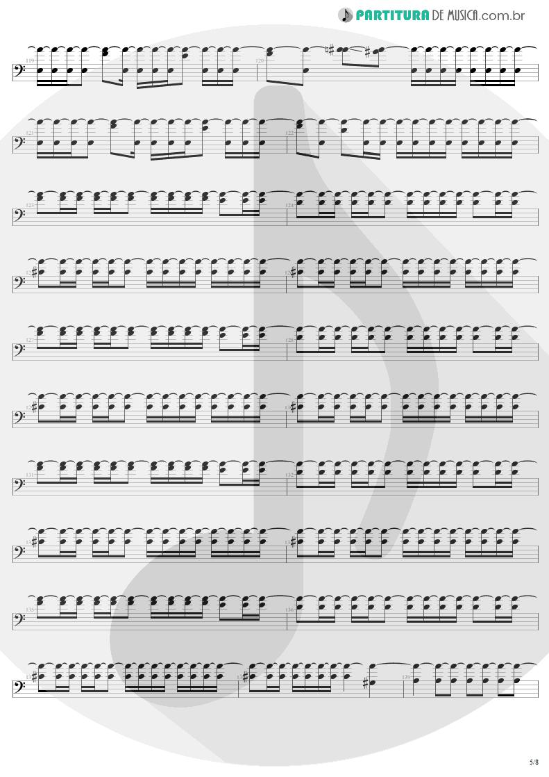 Partitura de musica de Baixo Elétrico - Slaves Of Pain | Sepultura | Beneath the Remains 1989 - pag 5