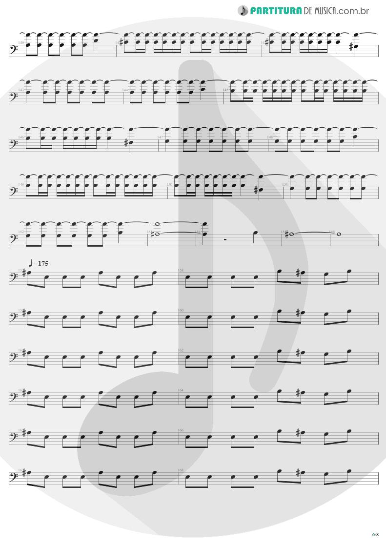 Partitura de musica de Baixo Elétrico - Slaves Of Pain | Sepultura | Beneath the Remains 1989 - pag 6