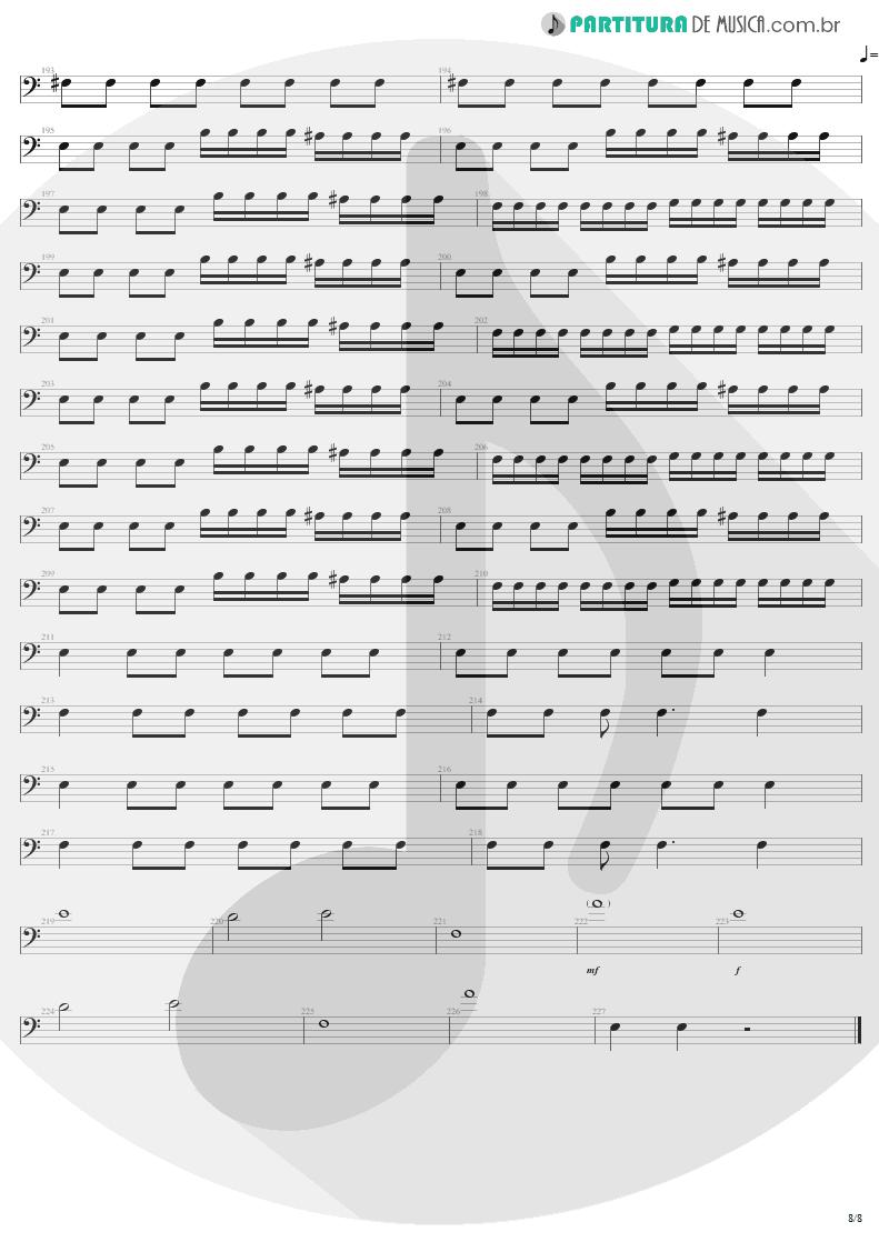 Partitura de musica de Baixo Elétrico - Slaves Of Pain | Sepultura | Beneath the Remains 1989 - pag 8