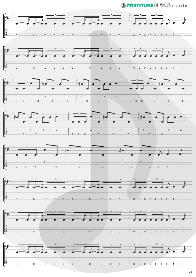 Tablatura + Partitura de musica de Baixo Elétrico - Arise | Sepultura | Arise 1991 - pag 2