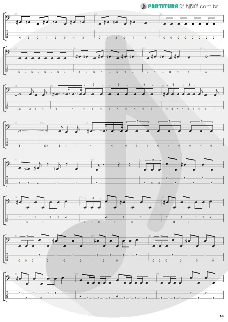 Tablatura + Partitura de musica de Baixo Elétrico - Arise | Sepultura | Arise 1991 - pag 6