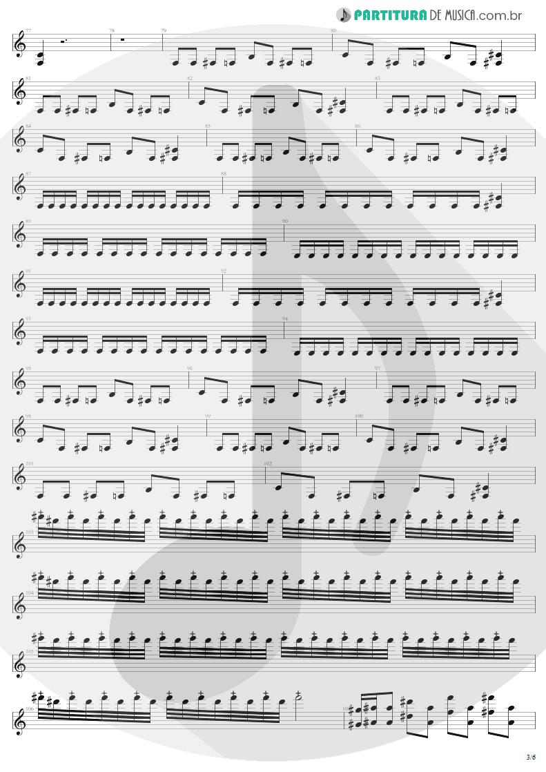Partitura de musica de Guitarra Elétrica - Desperate Cry | Sepultura | Arise 1991 - pag 3