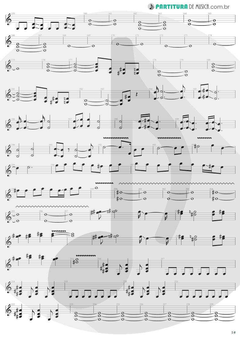 Partitura de musica de Guitarra Elétrica - Desperate Cry | Sepultura | Arise 1991 - pag 5