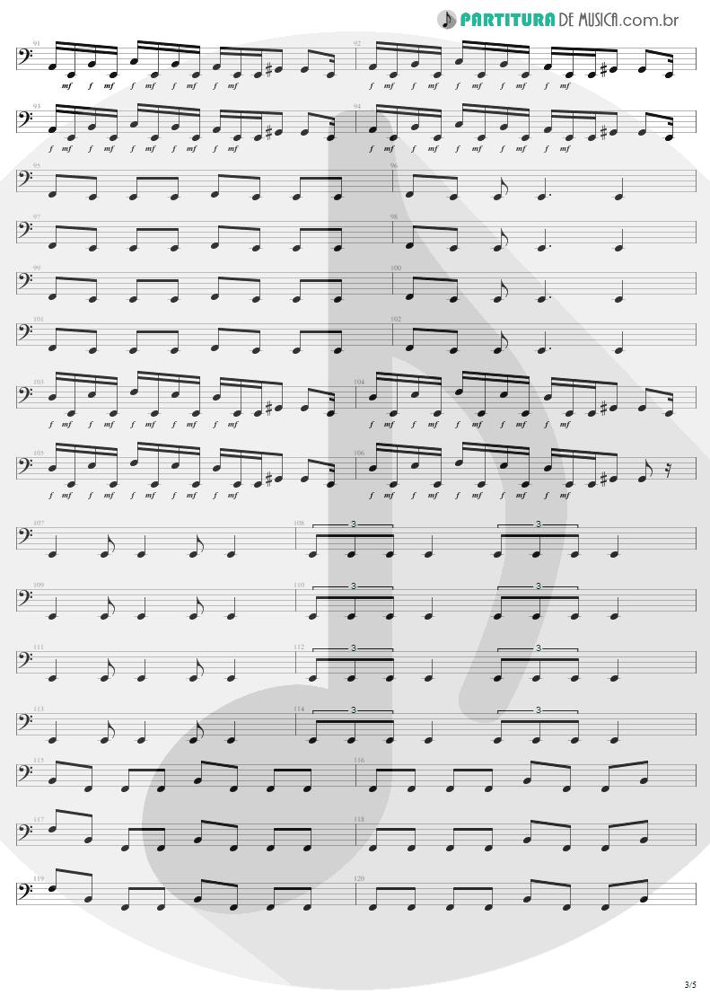 Partitura de musica de Baixo Elétrico - Infected Voice | Sepultura | Arise 1991 - pag 3