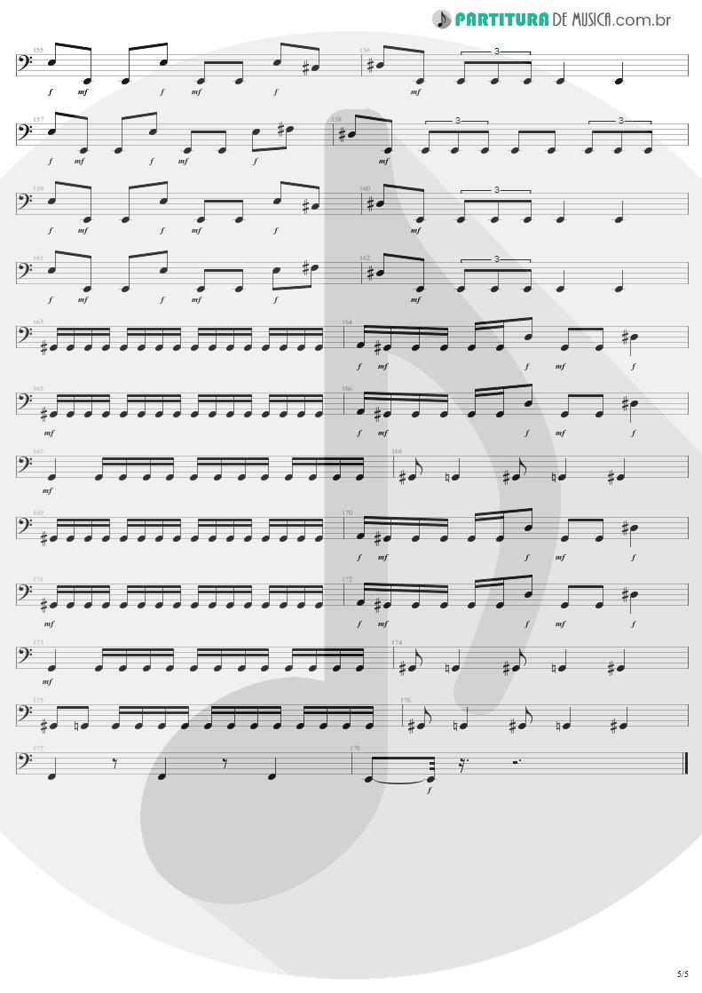 Partitura de musica de Baixo Elétrico - Infected Voice | Sepultura | Arise 1991 - pag 5