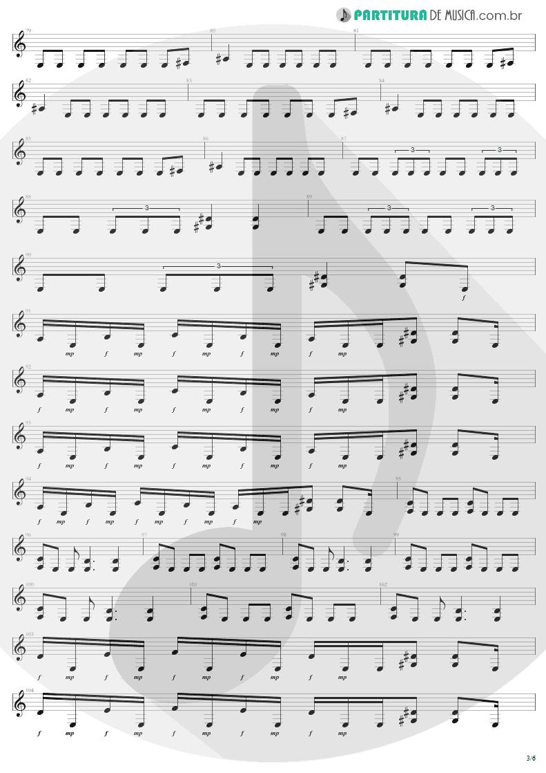 Partitura de musica de Guitarra Elétrica - Infected Voice | Sepultura | Arise 1991 - pag 3