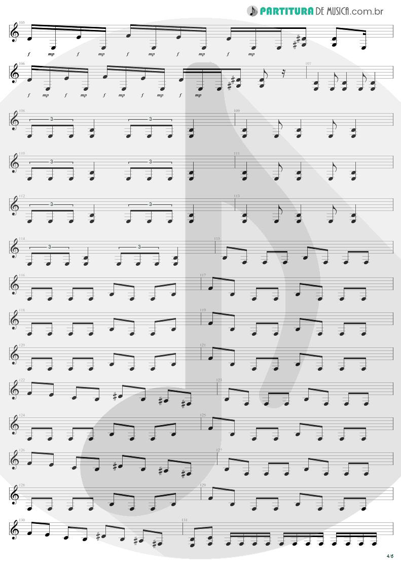Partitura de musica de Guitarra Elétrica - Infected Voice | Sepultura | Arise 1991 - pag 4