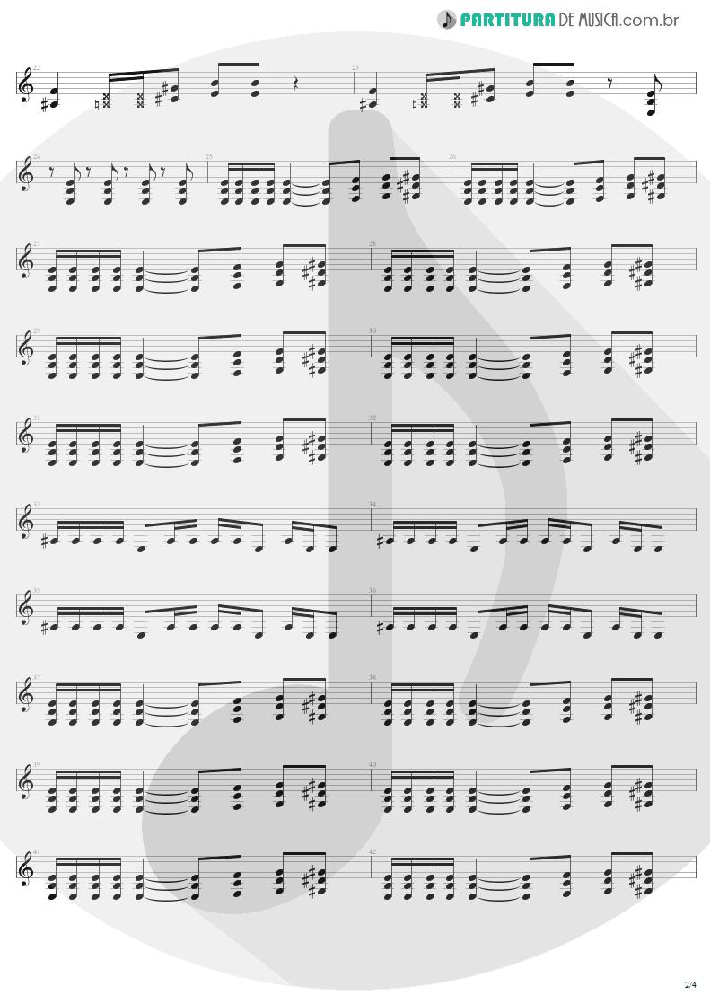Partitura de musica de Guitarra Elétrica - Refuse/Resist   Sepultura   Chaos A.D. 1993 - pag 2