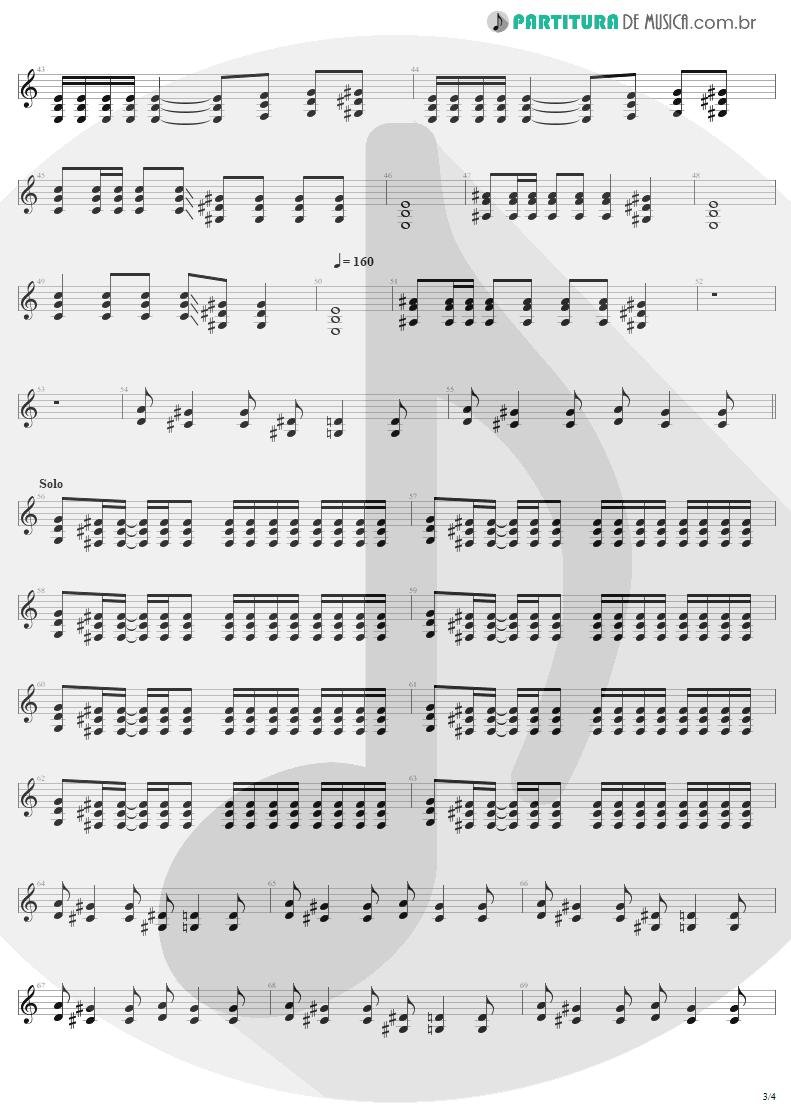 Partitura de musica de Guitarra Elétrica - Refuse/Resist   Sepultura   Chaos A.D. 1993 - pag 3