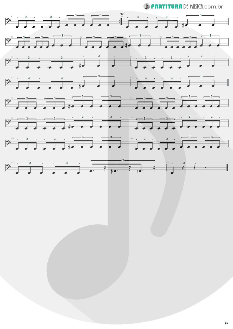 Partitura de musica de Baixo Elétrico - We Who Are Not As Others | Sepultura | Chaos A.D. 1993 - pag 3