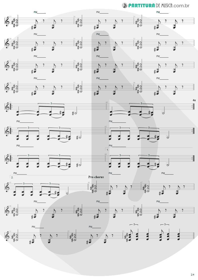 Partitura de musica de Guitarra Elétrica - We Who Are Not As Others | Sepultura | Chaos A.D. 1993 - pag 2